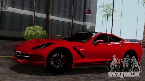 Chevrolet Corvette C7 Stingray 1.0.1 pour GTA San Andreas salon