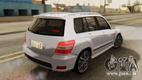 Mercedes-Benz GLK320 2012 pour GTA San Andreas laissé vue