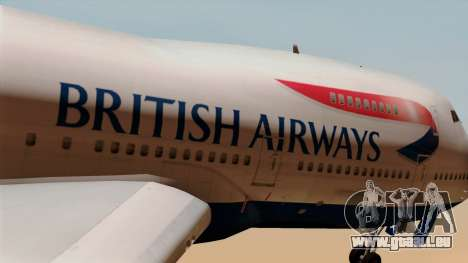 Boeing 747 British für GTA San Andreas Rückansicht