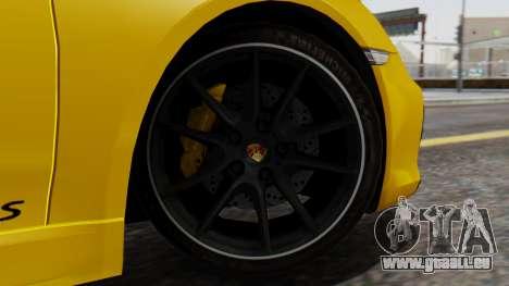 Porsche Boxter GTS 2016 pour GTA San Andreas sur la vue arrière gauche
