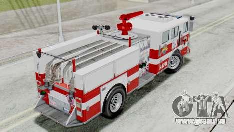 MTL SAFD Firetruck Flat Shadow pour GTA San Andreas sur la vue arrière gauche