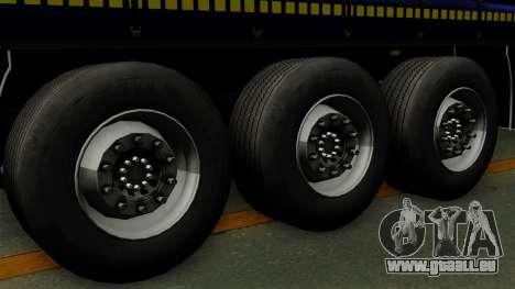 Trailer Krone Profiliner v3 für GTA San Andreas zurück linke Ansicht