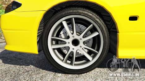 GTA 5 Nissan Silvia S15 v0.1 arrière droit vue de côté