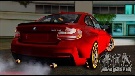 BMW 235i F22 pour GTA San Andreas laissé vue