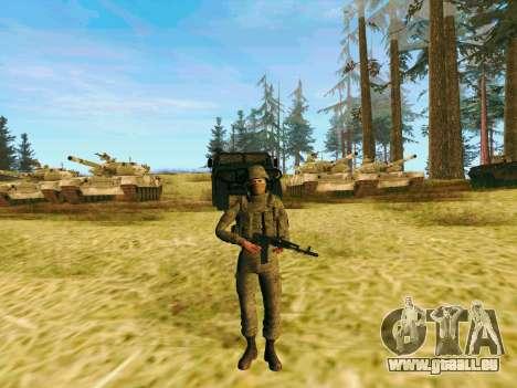 Pak-Kämpfer von speziellen Truppen von GRU für GTA San Andreas zweiten Screenshot