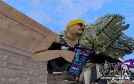 M4A1 Color pour GTA San Andreas deuxième écran