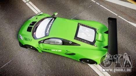 McLaren MP4-12C GT3 blank liveries für GTA 4 rechte Ansicht