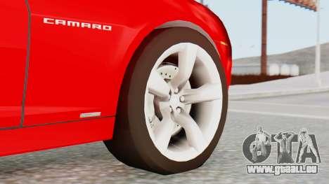 NFS Carbon Chevrolet Camaro pour GTA San Andreas sur la vue arrière gauche