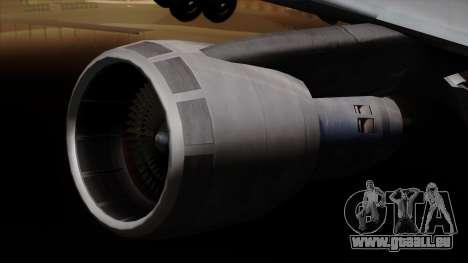Boeing 747 Korean Air pour GTA San Andreas vue de droite