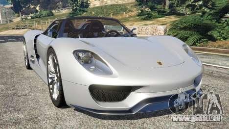 Porsche 918 Spyder pour GTA 5