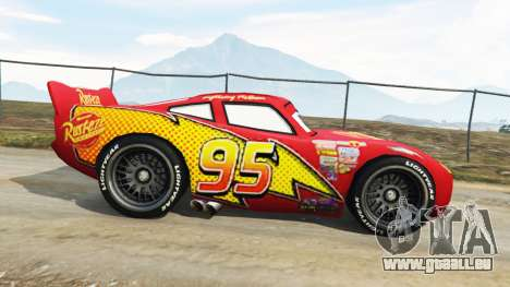 GTA 5 Lightning McQueen [Beta] linke Seitenansicht
