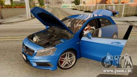 Mercedes-Benz A45 AMG 2012 PJ pour GTA San Andreas vue arrière