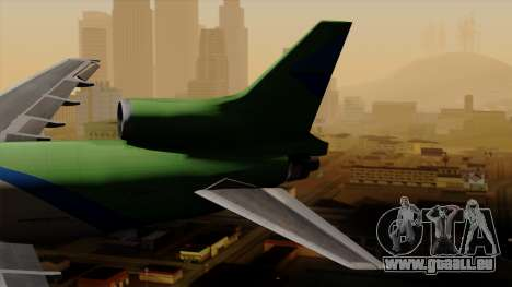 Lockheed L-1011 TriStar Arrow Air Cargo für GTA San Andreas zurück linke Ansicht