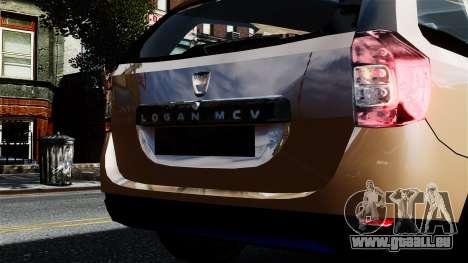 Dacia Logan MCV Stepway 2014 für GTA 4 rechte Ansicht