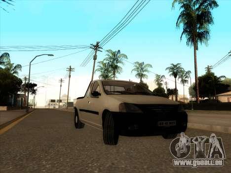 Dacia Logan Pick-up Necarosat pour GTA San Andreas laissé vue