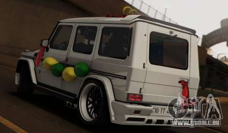 Mercedes Benz G65 Hamann Tuning Wedding Version für GTA San Andreas linke Ansicht