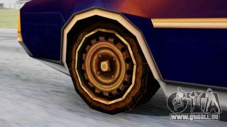 Clover Tuned pour GTA San Andreas sur la vue arrière gauche