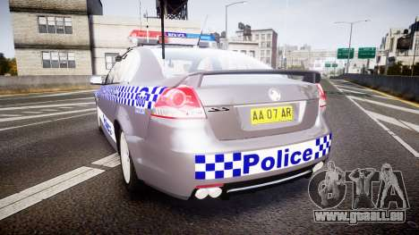 Holden VE Commodore SS Highway Patrol [ELS] für GTA 4 hinten links Ansicht