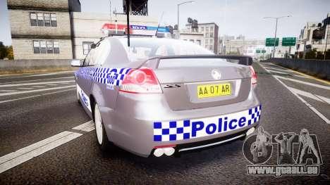 Holden VE Commodore SS Highway Patrol [ELS] pour GTA 4 Vue arrière de la gauche