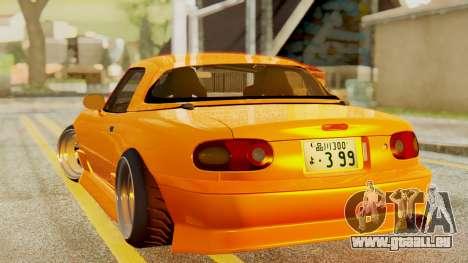 Mazda MX-5 BnSports pour GTA San Andreas sur la vue arrière gauche