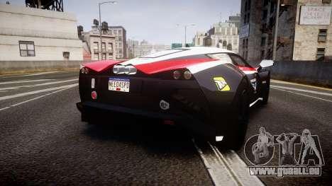 Marussia B2 2012 Jules pour GTA 4 Vue arrière de la gauche
