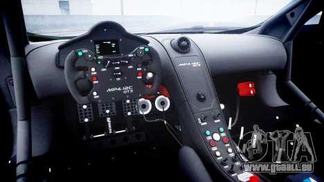 McLaren MP4-12C GT3 blank liveries für GTA 4 Innenansicht