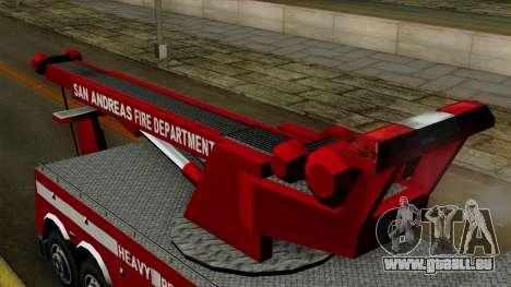 FDSA Heavy Rescue Truck pour GTA San Andreas vue de droite