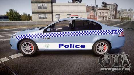 Ford Falcon FG XR6 Turbo NSW Police [ELS] v2.0 pour GTA 4 est une gauche