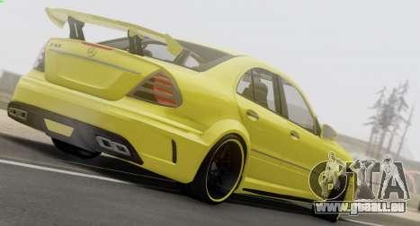 Mercedes-Benz E63 Qart Tuning für GTA San Andreas Innenansicht