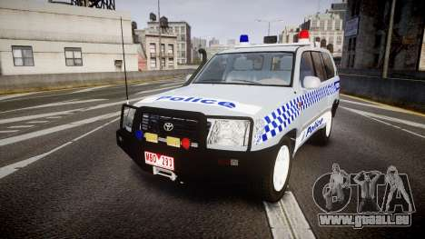 Toyota Land Cruiser 100 2005 Police [ELS] pour GTA 4