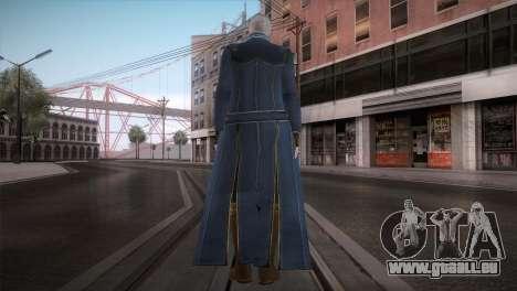 New Vergil from DMC pour GTA San Andreas deuxième écran