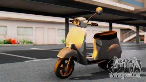 New Faggio pour GTA San Andreas sur la vue arrière gauche