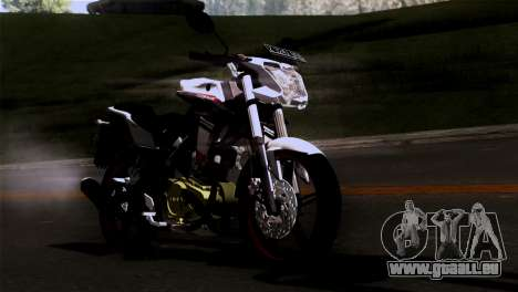 Yamaha Vixion Advance Lominous White für GTA San Andreas