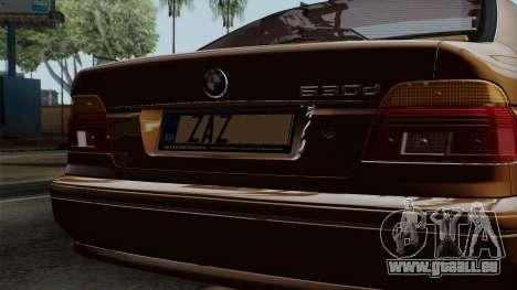 BMW 530D E39 2001 Stock pour GTA San Andreas vue arrière