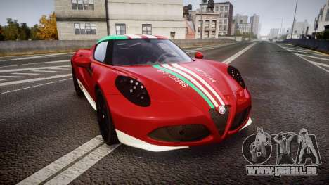 Alfa Romeo 4C 2014 SBK Safety Car für GTA 4
