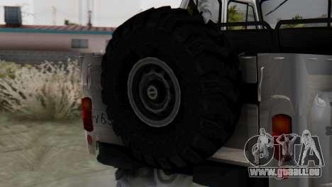 УАЗ 469 Ivan Braginsky pour GTA San Andreas sur la vue arrière gauche