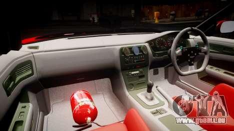 Nissan Silvia S14 Koni pour GTA 4 Vue arrière