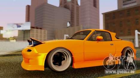 Mazda MX-5 BnSports pour GTA San Andreas vue de dessous