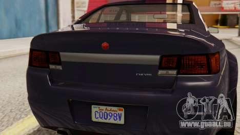 GTA 5 Cheval Fugitive IVF für GTA San Andreas Rückansicht