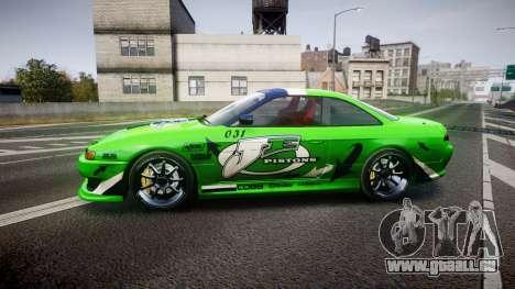 Nissan Silvia S14 JE Pistons für GTA 4 linke Ansicht