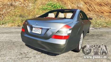 GTA 5 Mercedes-Benz S500 W221 v0.2 [Alpha] hinten links Seitenansicht