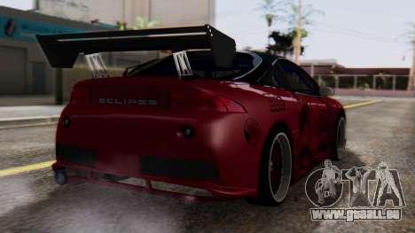 Mitsubishi Eclipse GSX 1999 Mugi Itasha für GTA San Andreas linke Ansicht