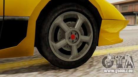 Sportcar2 SA Style pour GTA San Andreas sur la vue arrière gauche