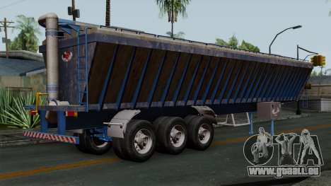 Trailer Silos für GTA San Andreas linke Ansicht