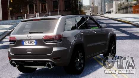 Jeep Grand Cherokee SRT8 2015 für GTA 4 linke Ansicht