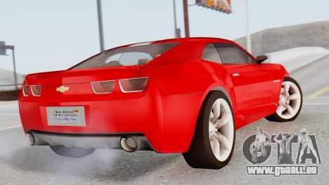 NFS Carbon Chevrolet Camaro pour GTA San Andreas laissé vue