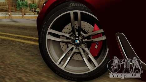 BMW 7 2015 pour GTA San Andreas sur la vue arrière gauche