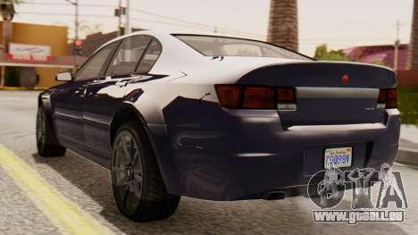 GTA 5 Cheval Fugitive IVF pour GTA San Andreas laissé vue
