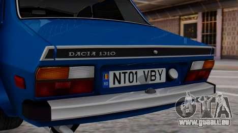 Dacia 1310 TX pour GTA San Andreas vue arrière