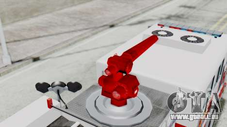 MTL SAFD Firetruck Flat Shadow pour GTA San Andreas vue intérieure